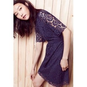 Madewell Lace Magnolia Dress in Navy Size 8 NWOT